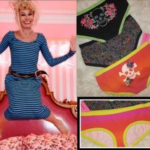 New!💋Set if 3 Betsey Johnson Underwear!💋